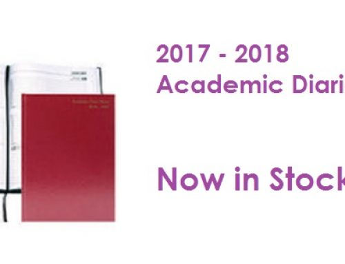 Academic Diaries now in stock
